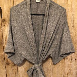 Gap gray light weight sweatshirt with wrap around